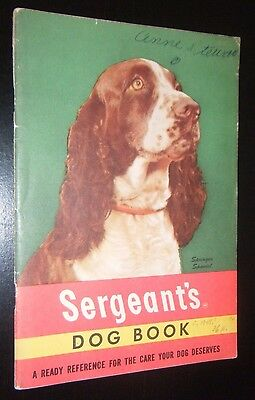 Sergeant's Dog Book Springer Spaniel Cover Great Vintage Illustrations