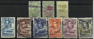 Bechuanal. 1898/1950, QV / KG VI, lot with 9 stamps, fiscally used