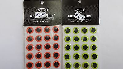 SHADOW 3D HARD EPOXY EYES 14mm(16pcs)each 2pk ass colors FREE SHIPPING worldwide