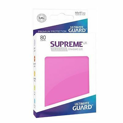 (80) Ultimate Guard SUPREME UX STANDARD Size Card Sleeves - PINK