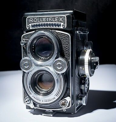 Vintage Rolleiflex 3.5F with 75mm Zeiss ,CLA, Extra's!