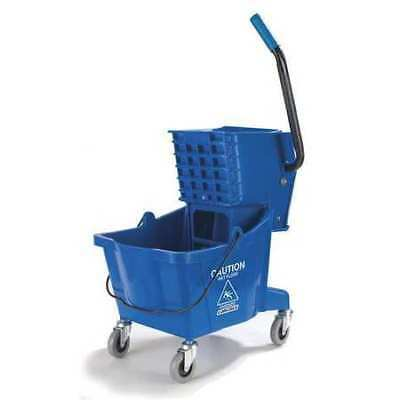 Mop Bucket,Side Press Wringer,26qt,Blue