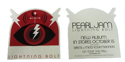 PEARL JAM 2013 Lightning Bolt promotional Monkeywrench Sticker New Old Stock