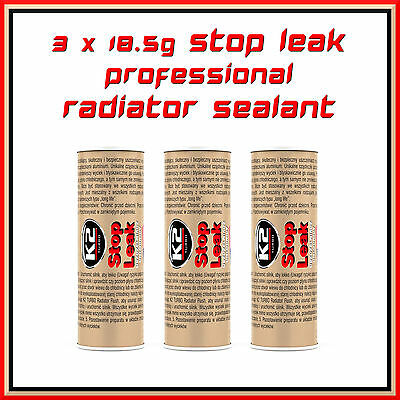 3 X 18.5G Stop Leak Radiator Sealant Pro Cooling System Additive Anti Corros New