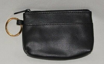 Coin purse wallet with key ring black