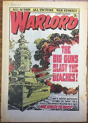 Warlord Comic #131 March 1977 DC Thompson