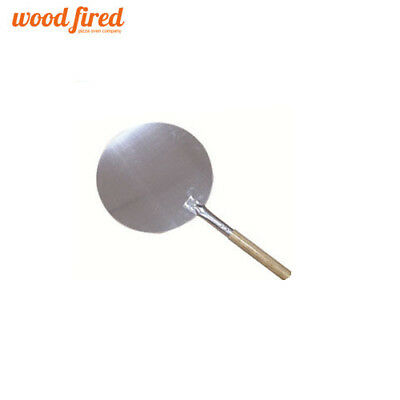 """24"""" pizza oven peel 12"""" round Aluminium head with wooden handle (wood fired)"""