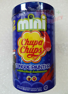 50 x Mini Chupa Chups Lollipops Tongue Painter Assorted Flavors Cola and Fruit