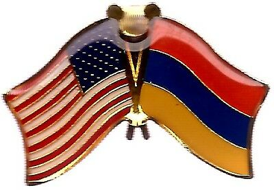 LOT OF 3 Armenian Friendship Flag Lapel Pins - Armenia Flag Pin