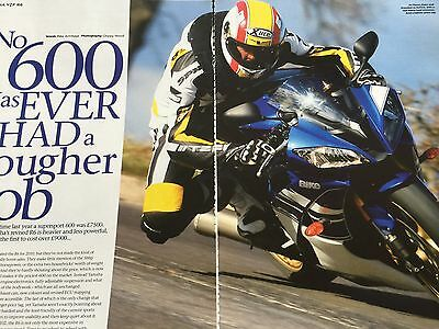 Yamaha R6 Yzf-R6 2010 Model - Original 5 Page Motorcycle Article