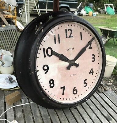 HUGE Industrial Smiths Factory Wall Clock