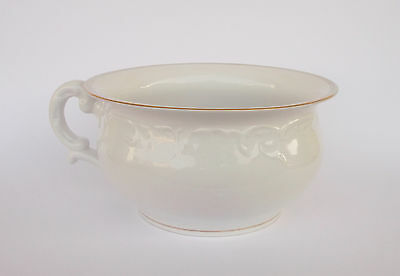 "Antique 1924-1947 Portuguese ""vista Alegre"" Porcelain Chamber Pot"