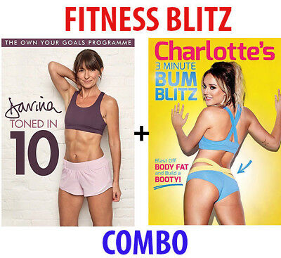 Charlotte Crosby's 3 Minute Bum Blitz & Davina Toned In 10 Dvd Fitness Workout