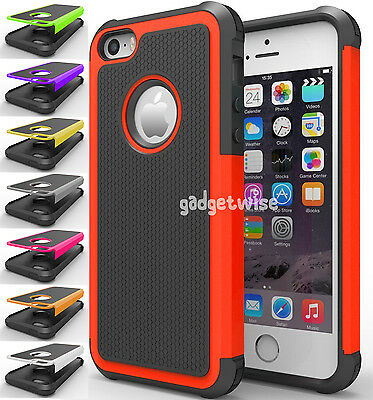 Rugged Impact Heavy Duty Dual Layer Shock Proof Case Cover Skin For iPhone 6 7 8