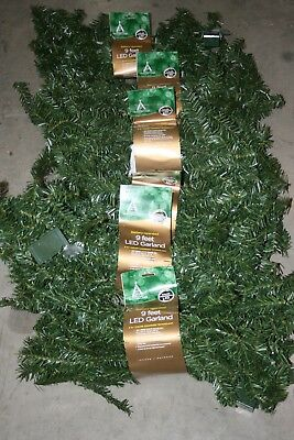 9' Battery Operated LED Color Changing Christmas Garland (lot of 6)