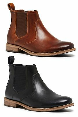 Mens HUSH PUPPIES BENFICA FORMAL/DRESS/WORK/CASUAL/LEATHER SHOES BOOTS Tan Black