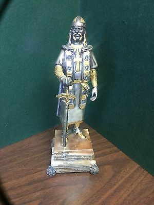 G. Vasari Italy Silver Gilt Bronze Limited Edition Sculpture, Signed 34/200
