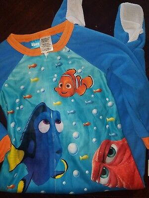 Finding Dory Disney Pajamas Winter Zip Up With Feet Size 4T New