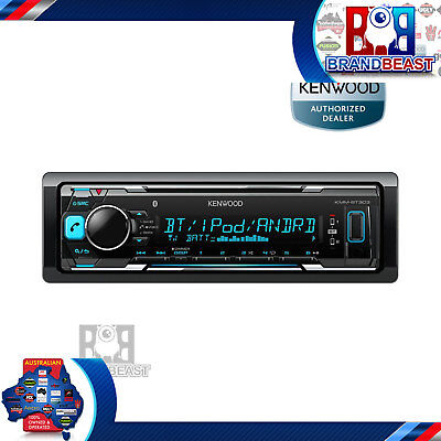 Kenwood Kmm-bt303 Media Player Bluetooth Aux Usb Iphone Radio Car Stereo Flac