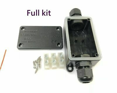 Packs 2 Way Outdoor waterproof IP65 cable connector junction box 240v UK mains