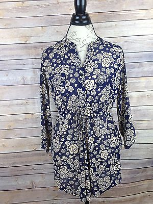 Siren Lily Maternity Women's Button Down Semi Sheer Floral Top Size Medium