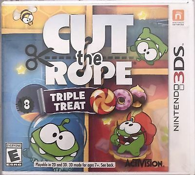 Nintendo 3DS Cut the Rope Triple Treat Video Game Experiments Travel SEALED NEW