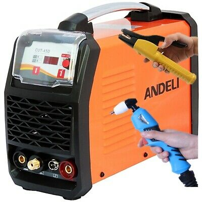 45Amp 15Mm Cut Hf Start Plasma Cutter & Mma/arc/stick Dc Inverter Welder 2 In 1