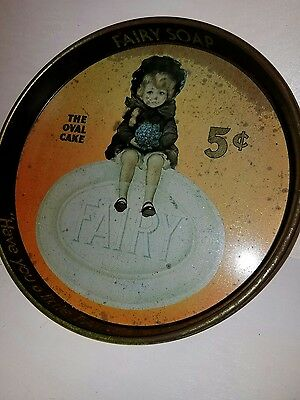 "Vintage ""Fairy Soap"" advertising metal Tray by Cheinco"