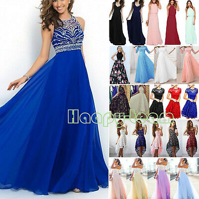 Womens Long Gown Prom Bridesmaid Dress Evening Formal Cocktail Party Ball Ladies