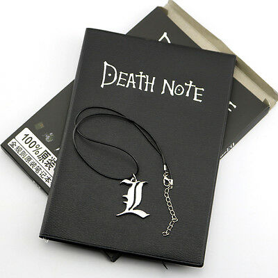Notebook & Necklace Large Writing Journal Anime Theme Cosplay Book Death Note