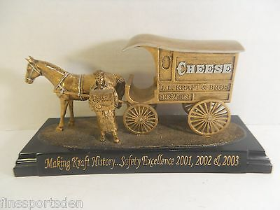 JL KRAFT & SONS CHEESE Advertising Horse Delivery Wagon Safety Excellence Award