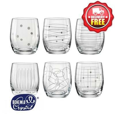 Bohemia Crystal Elements Tumblers 300ml | Set of 6 Glasses