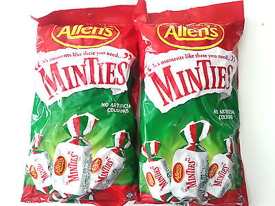 2 x Allen's Minties Individually Warpped Lollies - 1kg