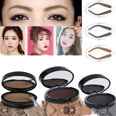 Eyebrow Powder Makeup Brow Stamp Palette Delicated Shadow Definition 3 Colors
