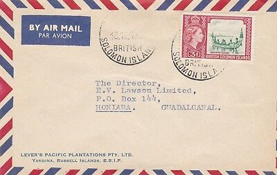 DC13) Solomon Islands Advertising Airmail cover to Honiara