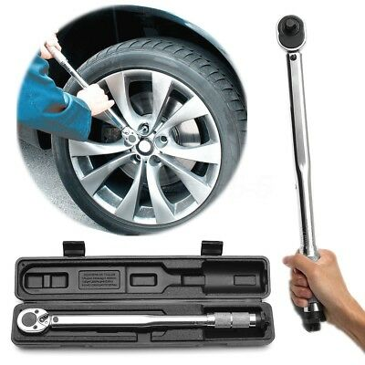 "1/2"" Adjustable Ratchet Torque Wrench Square Drive 28 - 210Nm or 19 - 154.9lb-ft"