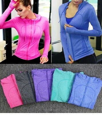 Women's Training Fitness Gym Long Sleeve Jacket Zip Hoodie Seamless Quick Dry