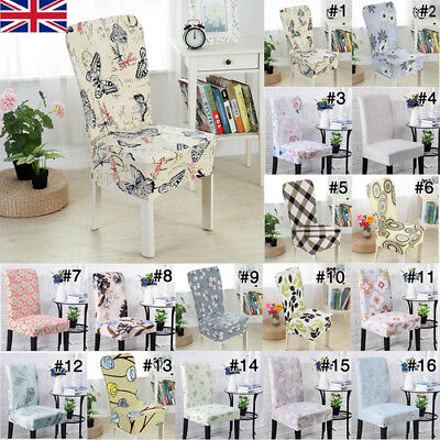 Removable Elastic Stretch Slipcovers Dining Room Chair Seat Cover Banquet Decor