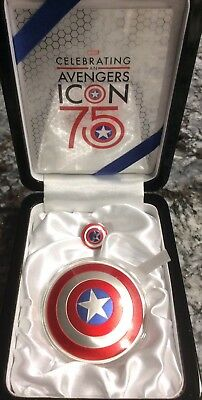 CAPTAIN AMERICA SHIELD - 75TH ANNIVERSARY, 2016 2 oz Proof Silver Domed Coin