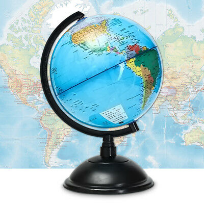 20cm Blue Ocean World Globe Map Geography Educational Tools Swivel Stand Gift AU