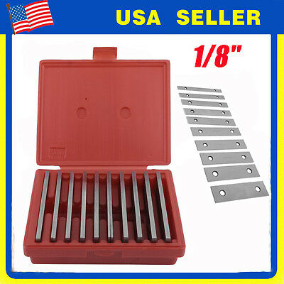 """Shars 1/8"""" Steel Parallel Set 10 Pair Parallels .0002"""" Hardened New Lb"""
