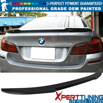 11-16 BMW 5 Series F10 4D M5 Trunk Spoiler OEM Painted Color # 300 Alpine White
