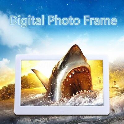 White 10'' TFT-LED Display Screen Digital Photo Picture Frame Built-in 2G Memory