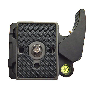 """Quick Release QR Adapter & Plate Lightweight Manfrotto 200PL 14 Compat 1/4"""" 3/8"""""""
