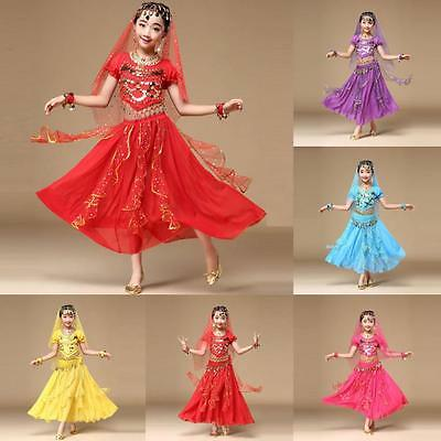 Baby Girls Belly Dance Costume India Dance Clothes Top+Skirt Photography Outfits