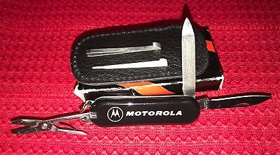 MOTOROLA Swiss Army Knife Style Promo Advertising BLACK Box RARE