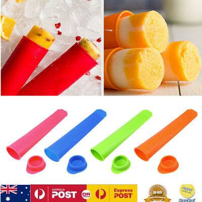 8x Ice Cream Molds/Silicone Ice Block Moulds/Icy Pole/Jelly Pop/Popsicle Maker