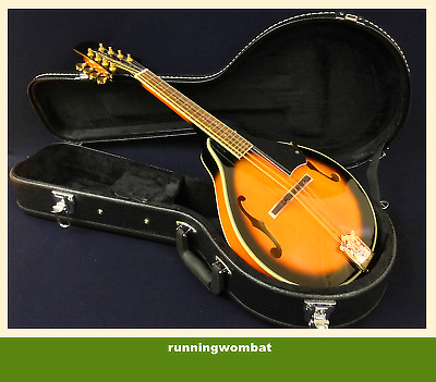 Smoky Mountain SM68 A-Style Mandolin Flame Maple - Vintage Sunburst + HARD Case