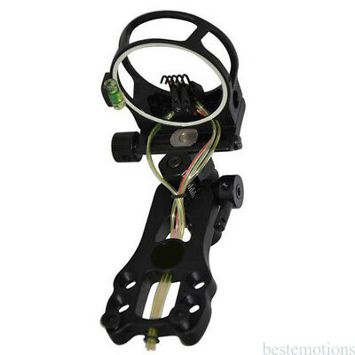 Compound Bow Sight 5 Pin with LED Light  Fiber Archery Hunting NEW Durability