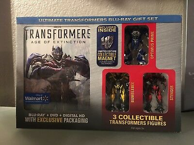 Transformers Age Of Extinction Blu Ray Dvd Hd Figures Walmart Exclusive